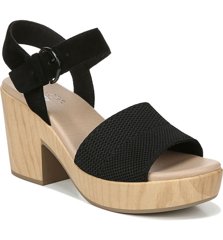 DR. SCHOLL'S Brickell Platform Sandal, Main, color, BLACK LEATHER