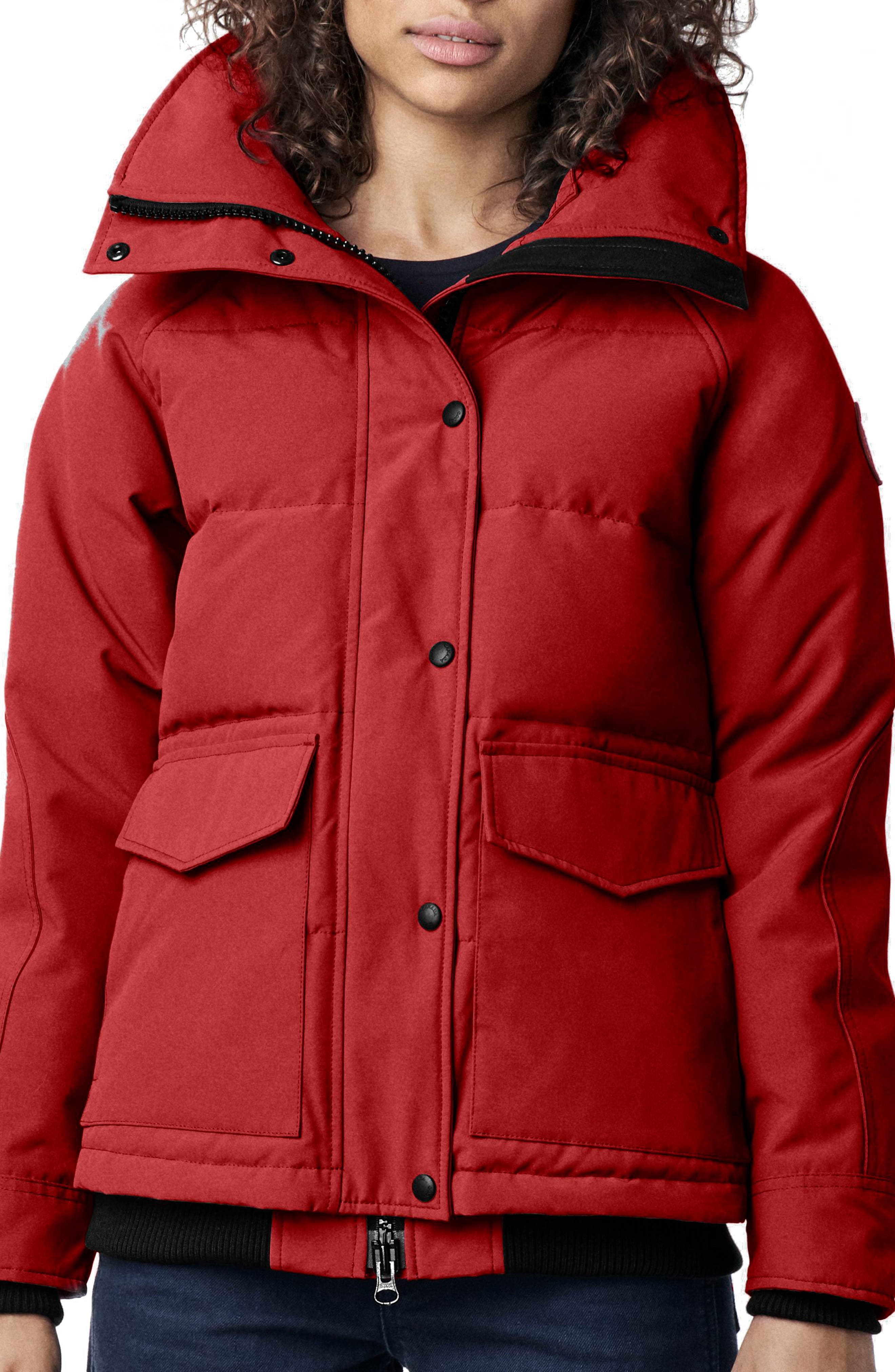 Canada Goose Deep Cove Arctic Tech Water Resistant 625 Fill Power Down Bomber Jacket, (14-16) - Red