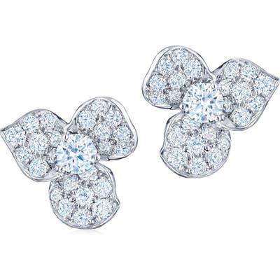 Kwiat Diamond Petal Flower Earrings