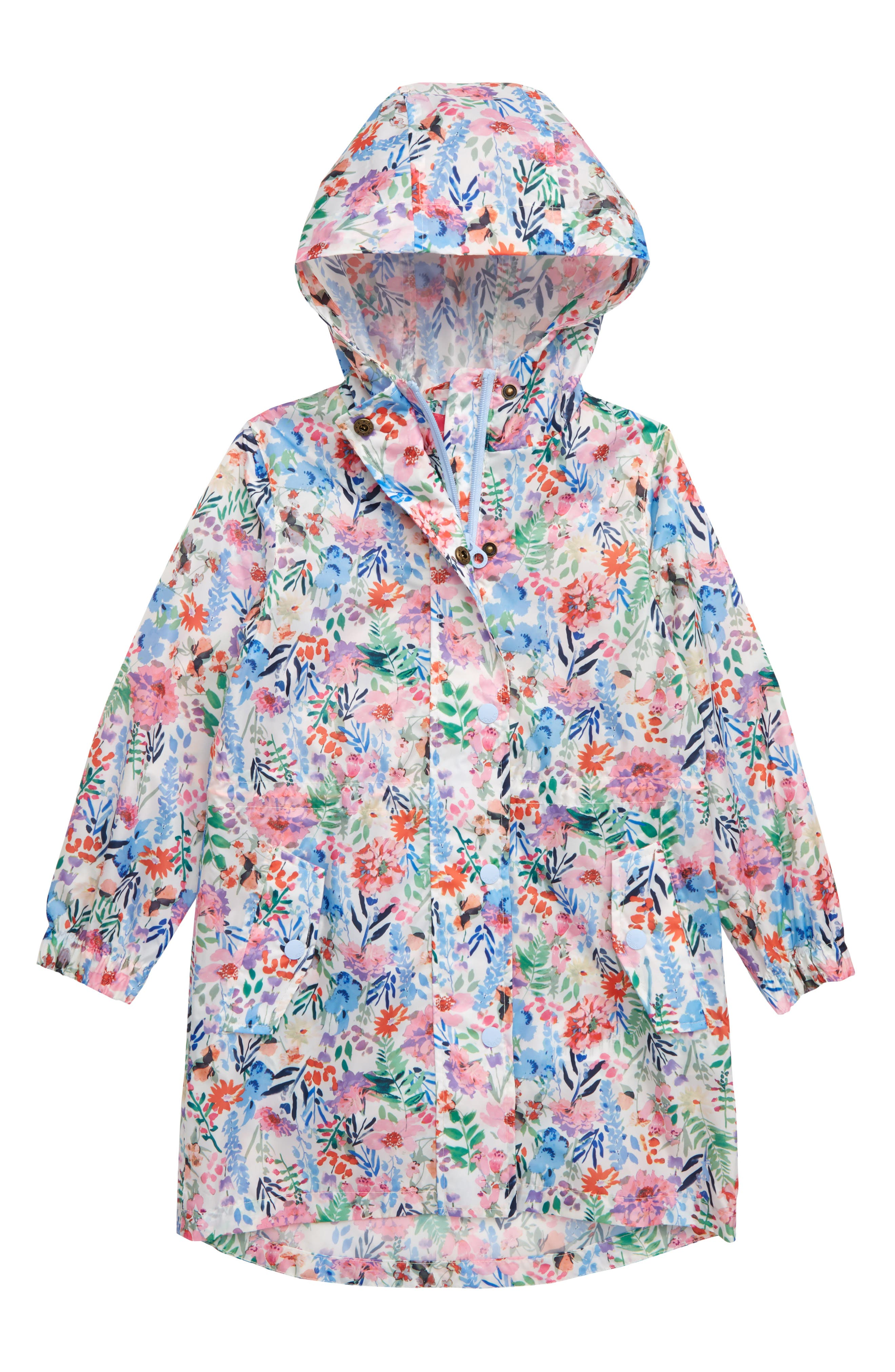 Toddler Girls Joules Golightly Packable Waterproof Rain Jacket Size 3Y  Ivory