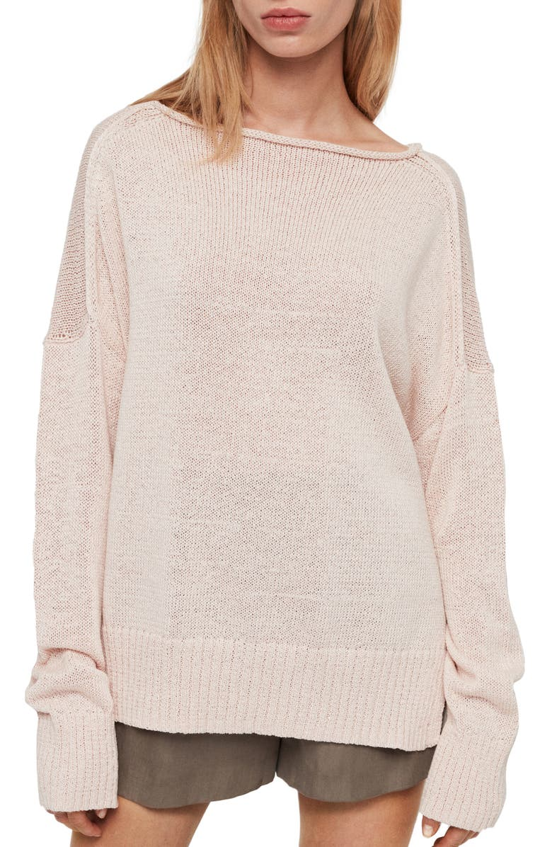 ALLSAINTS Nadine Sweater, Main, color, PLASTER PINK