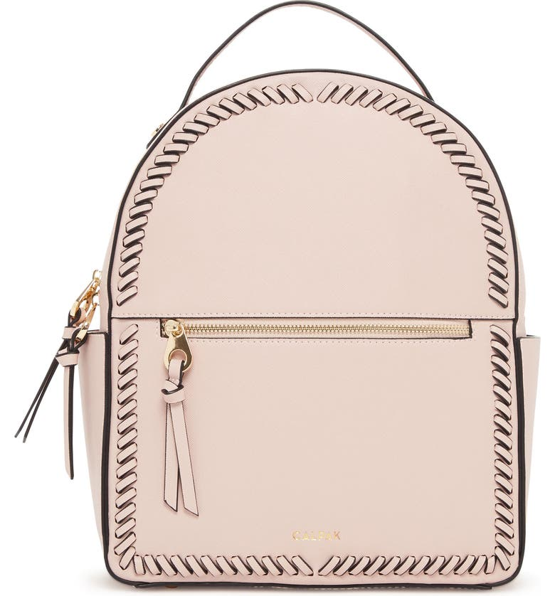 CALPAK Kaya Faux Leather Round Backpack, Main, color, BLUSH PINK