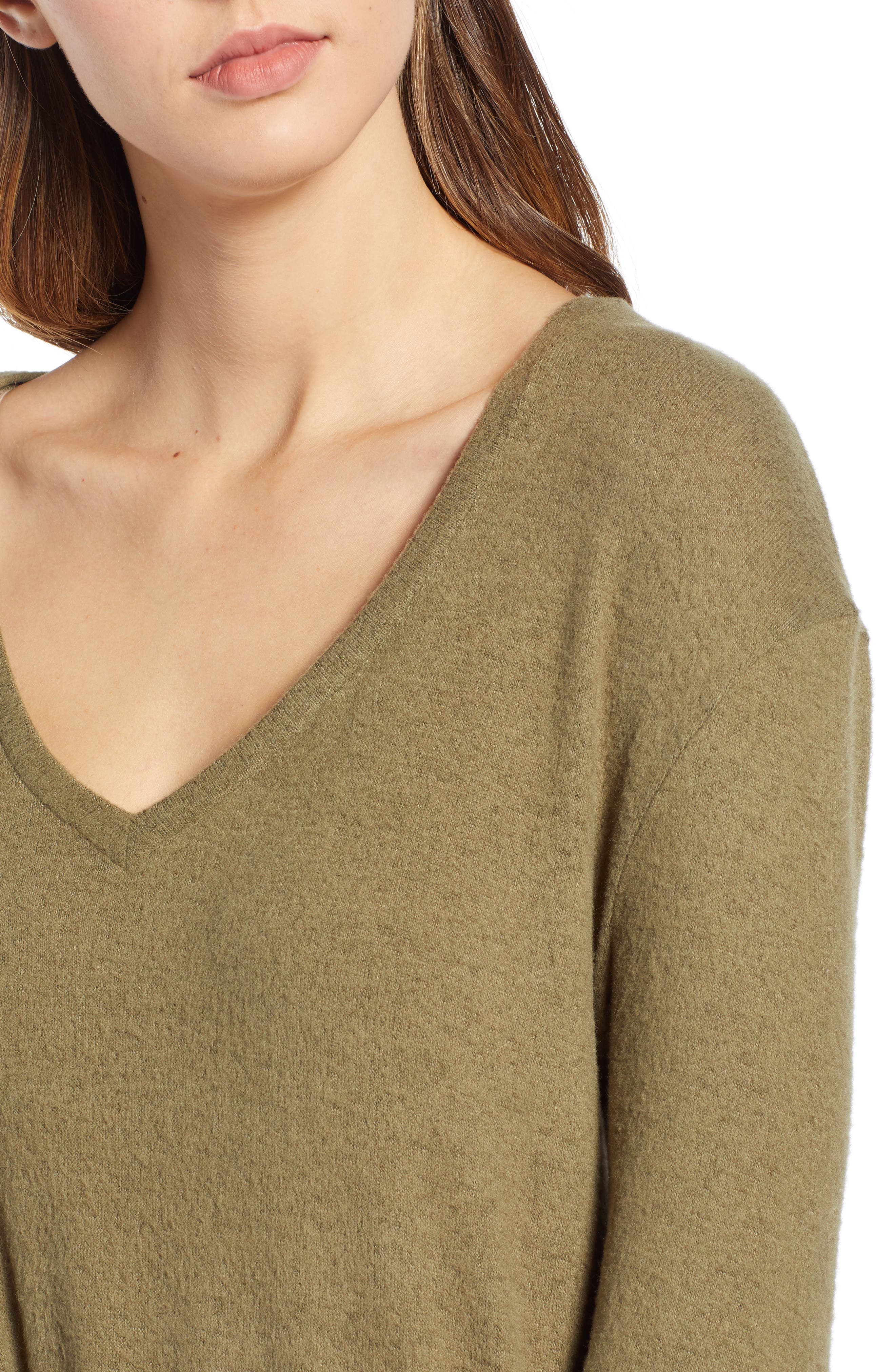 ,                             Cozy V-Neck Sweater,                             Alternate thumbnail 15, color,                             301