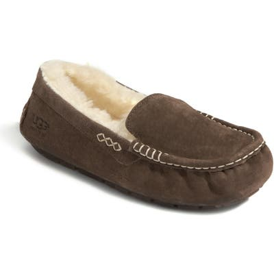 UGG Ansley Water Resistant Slipper, Brown (Nordstrom Exclusive)