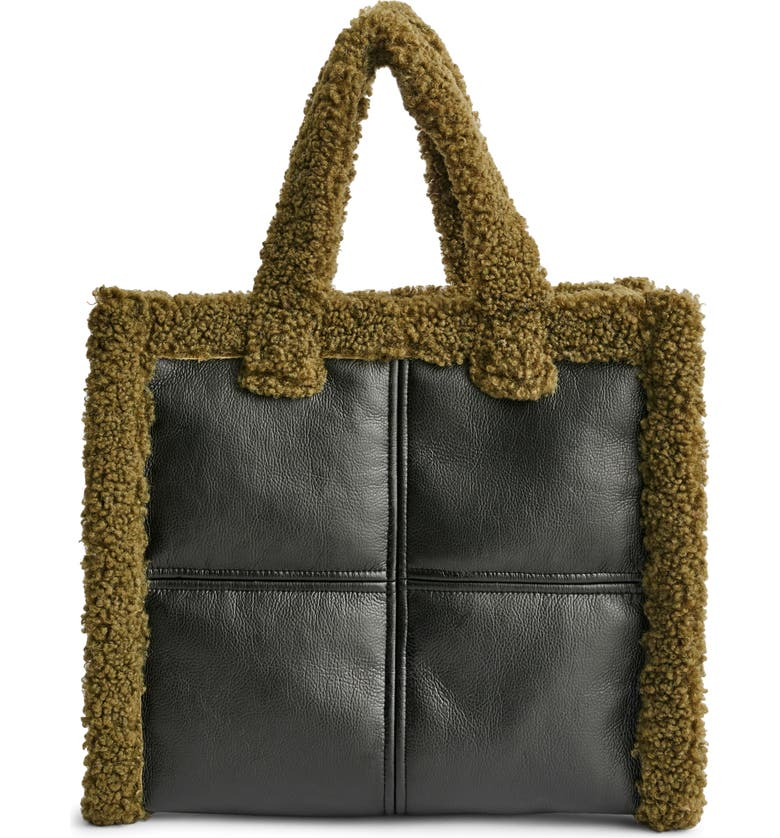 Stand Studio Medium Lolita Faux Shearling Trim Tote | Nordstrom