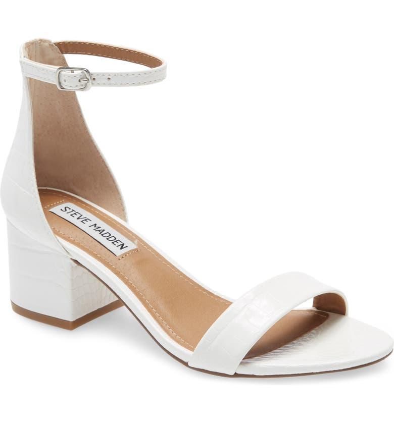 STEVE MADDEN Irenee Ankle Strap Sandal, Main, color, WHITE CROCO