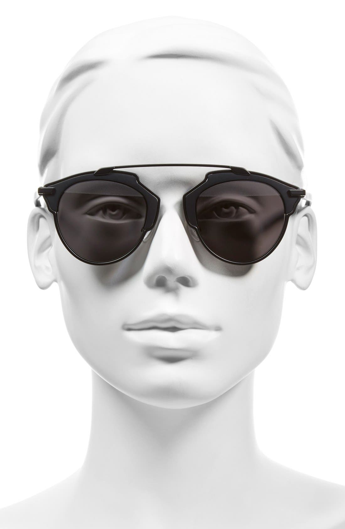 ,                             So Real 48mm Brow Bar Sunglasses,                             Alternate thumbnail 14, color,                             004