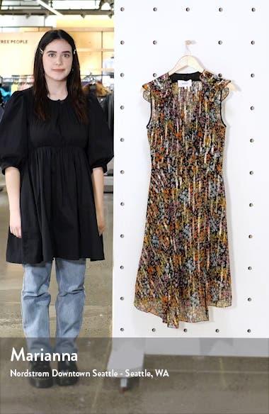 Fenix Fil Coupé Floral Silk Midi Dress, sales video thumbnail