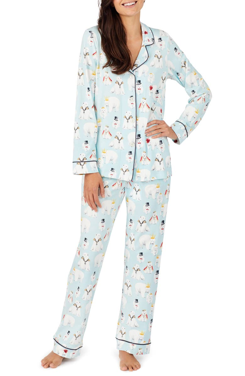 BEDHEAD PAJAMAS Long Sleeve Print Pajamas, Main, color, ARCTIC ARISTOCRATS