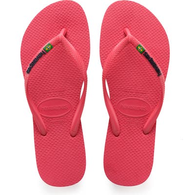 Havianas Slim Brazil Flip Flop, 9/40 BR - Pink