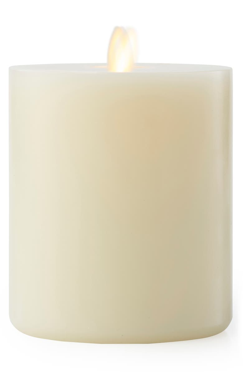 LIGHTLI Moving Flame 5.25-Inch LED Candle, Main, color, IVORY