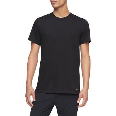 Calvin Klein 3-Pack Cotton Crewneck T-Shirt, Black