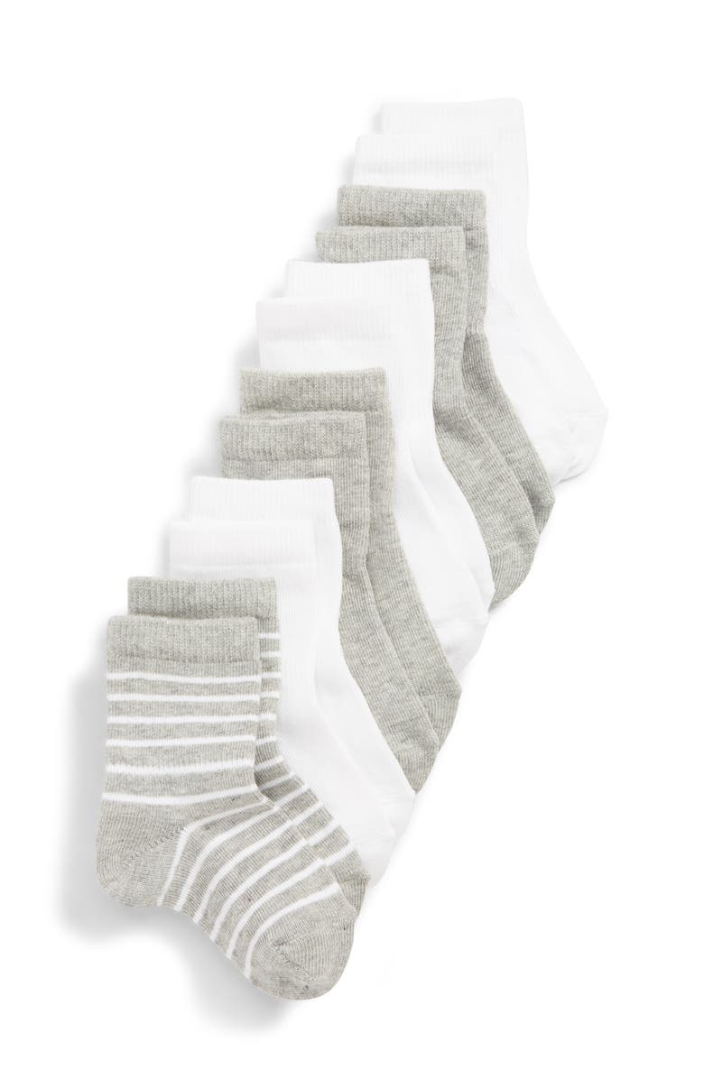 TUCKER + TATE 6-Pack Crew Socks, Main, color, LIGHT GREY HEATHER