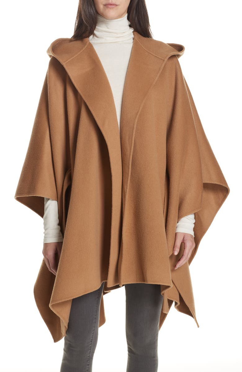 THEORY New Divide Hooded Poncho Coat, Main, color, 200