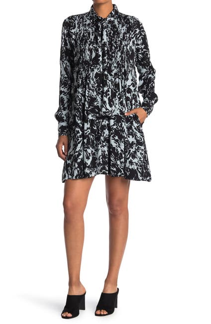 Image of Proenza Schouler Printed Georgette Baby Doll Dress