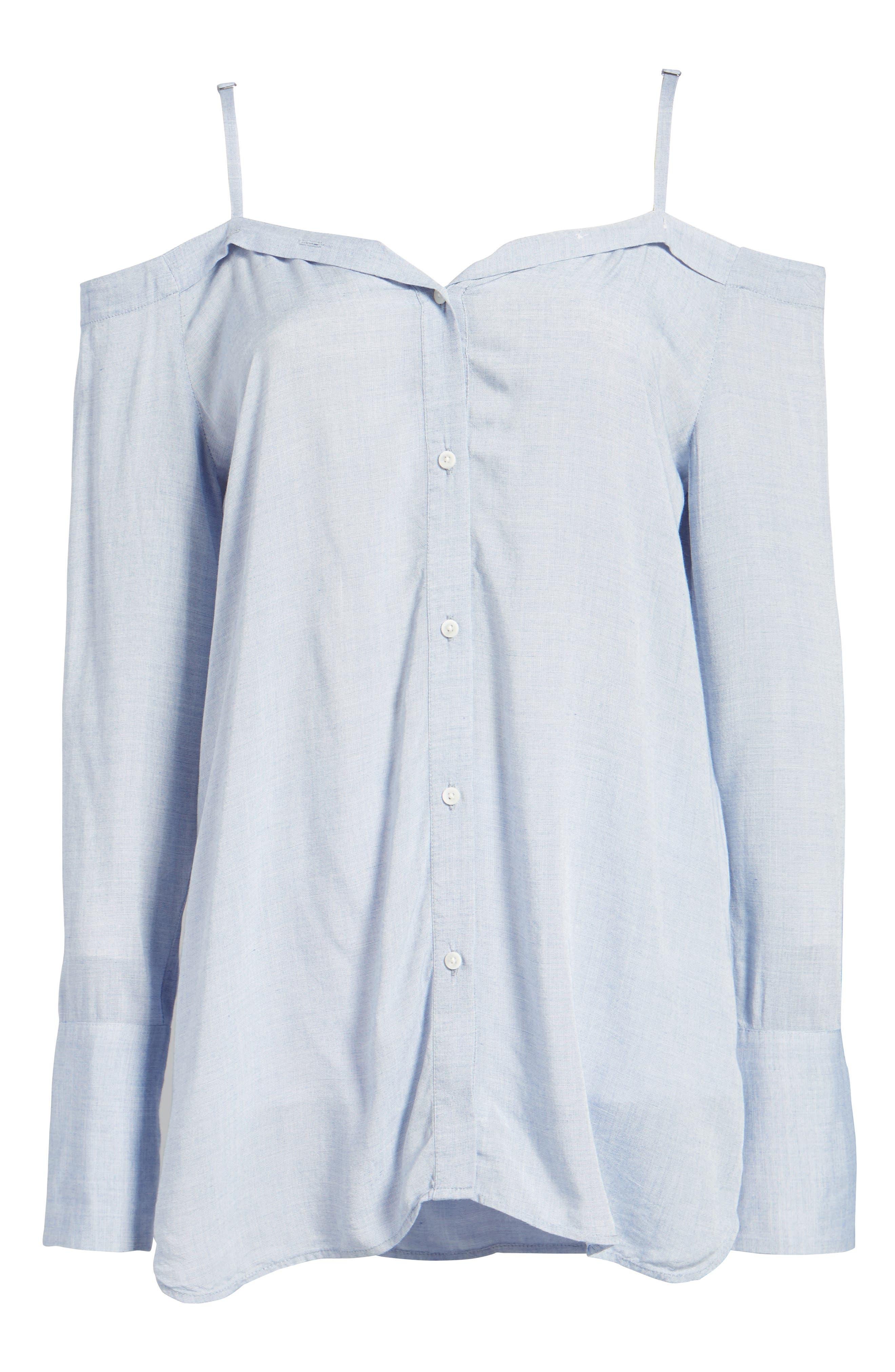 ,                             Deconstructed Off the Shoulder Shirt,                             Alternate thumbnail 12, color,                             400
