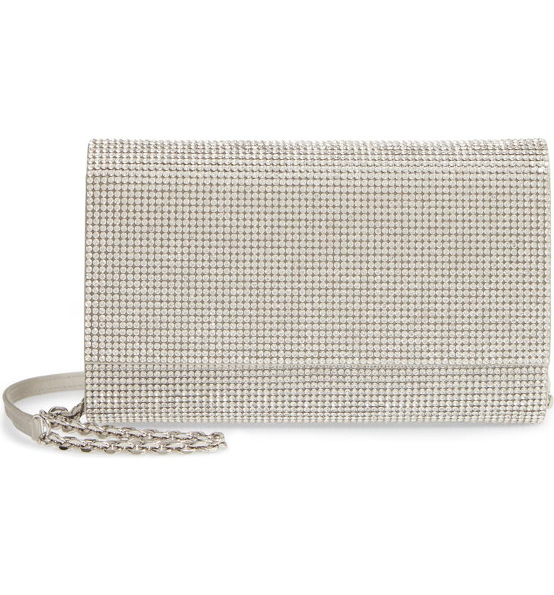 JUDITH LEIBER Couture Fizzoni Beaded Clutch, Main, color, RHINE