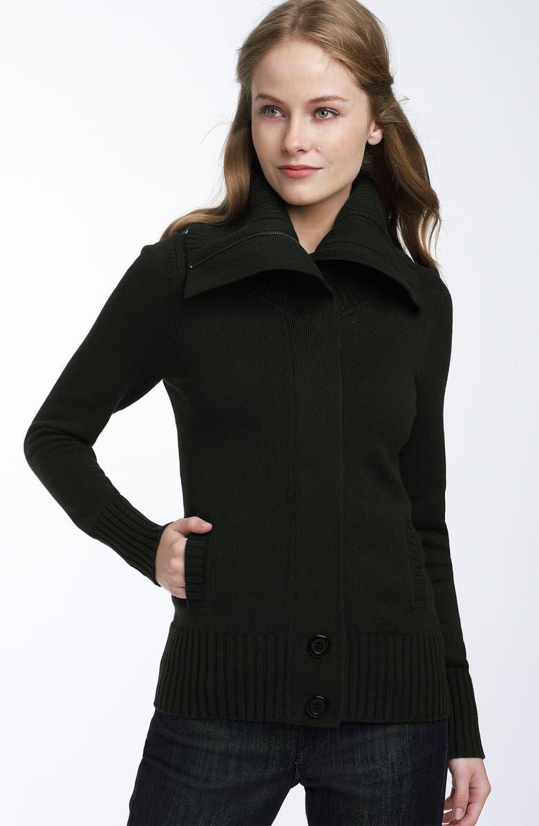 CASLON<SUP>®</SUP> Oversized Collar Cardigan, Main, color, 001