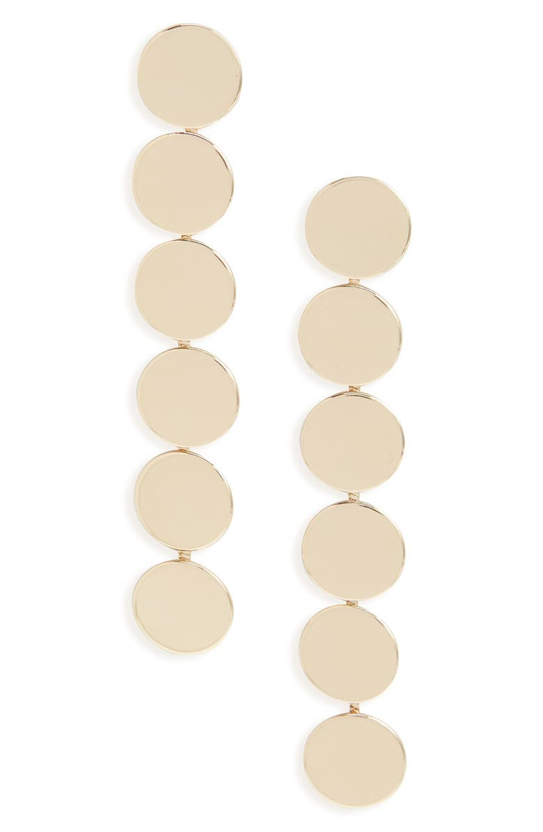 SOLE SOCIETY 'Modern Discs' Drop Earrings, Main, color, 710