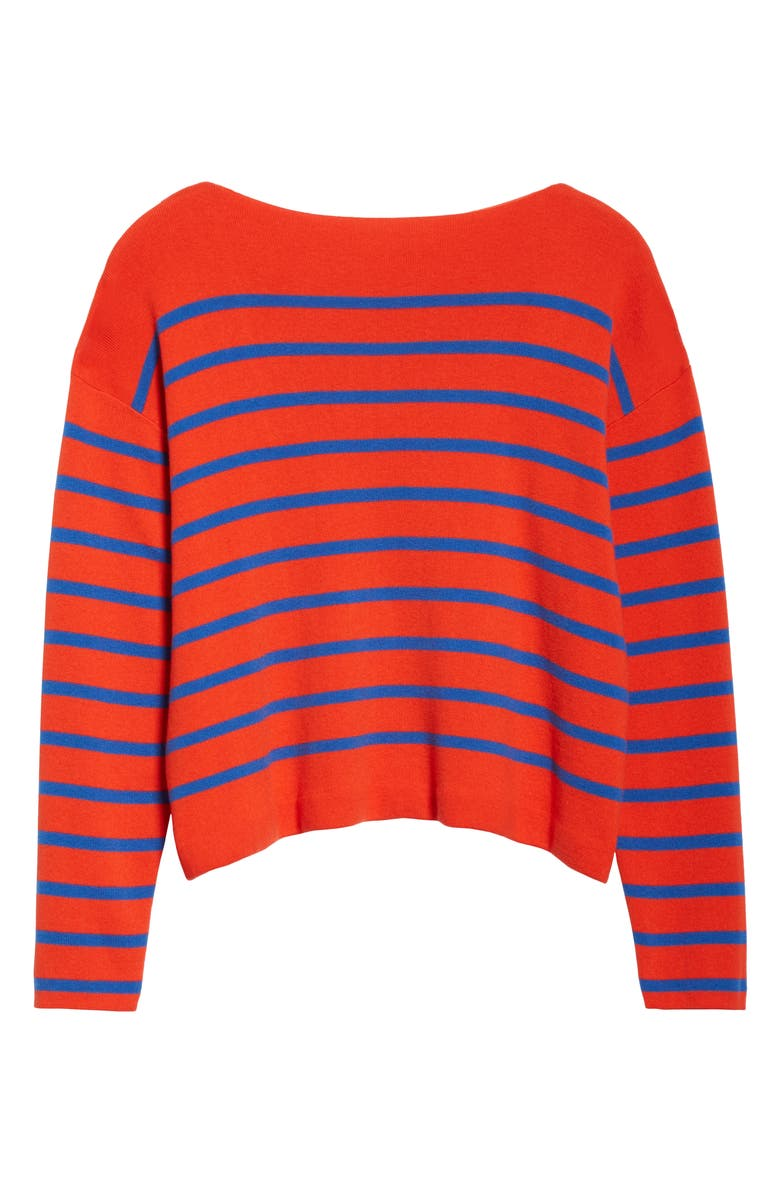 ENTIREWORLD Type A Version 8 Boatneck Sweater, Main, color, RED BLUE