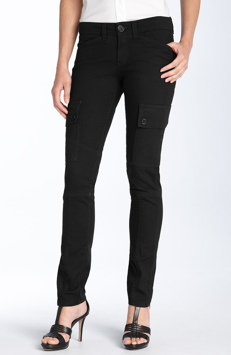BILLY BLUES Billy Blue Skinny Stretch Cotton Cargo Pants, Main, color, 001