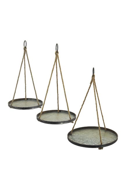 Image of VIP International Metal Hanging Tray - Set of 3