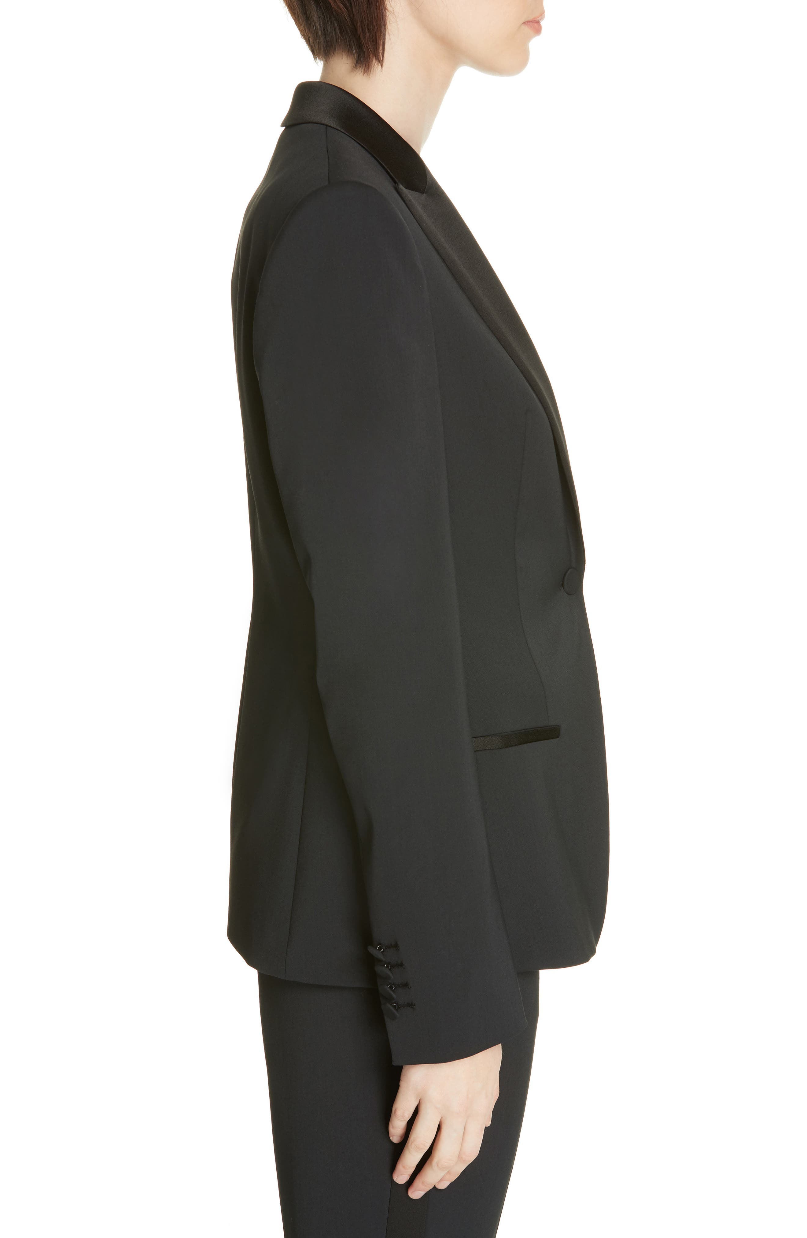 ,                             Jaxtiny Tuxedo Jacket,                             Alternate thumbnail 4, color,                             BLACK