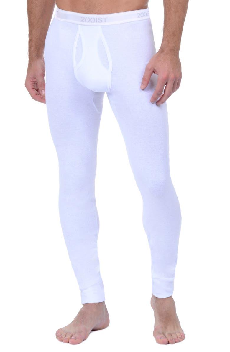 2(X)IST Cotton Long Underwear, Main, color, WHITE