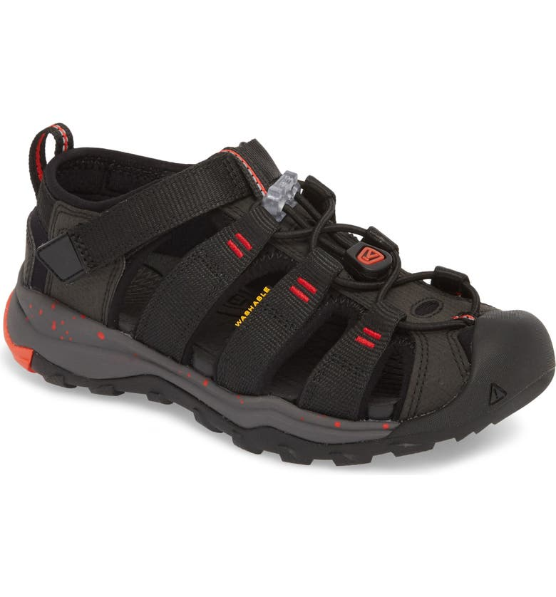KEEN Newport Neo H2 Water Friendly Sandal, Main, color, BLACK/ FIERY RED