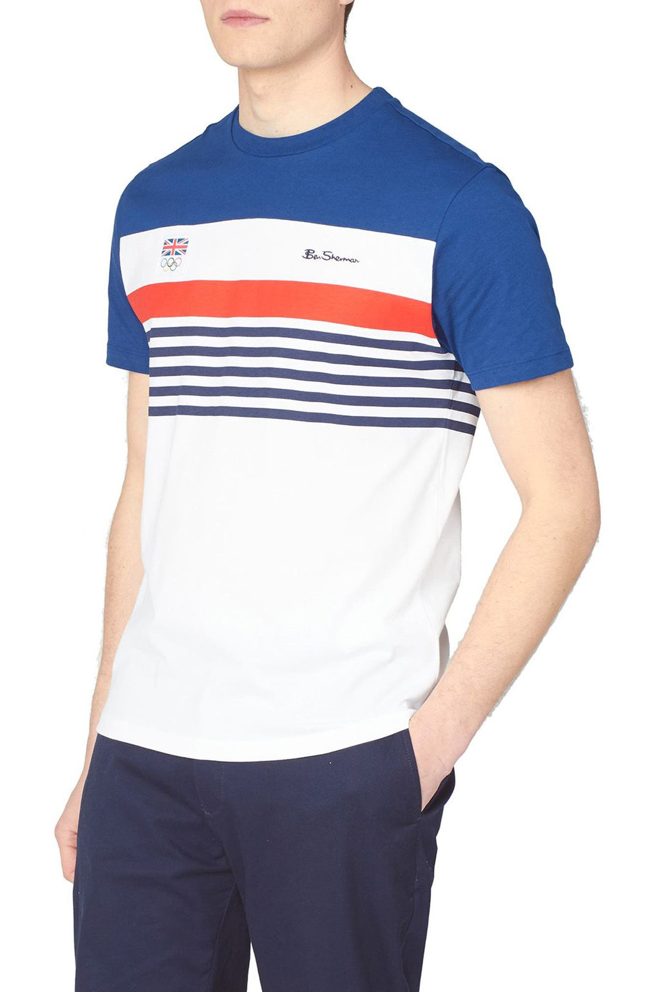 Team Gb Chest Stripe T-Shirt