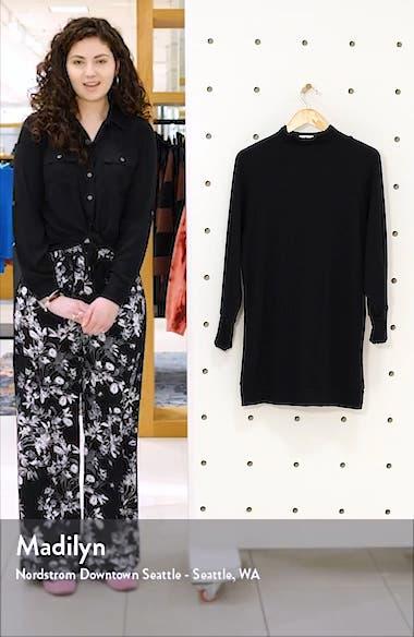 Long Sleeve Textured Knit Shift Dress, sales video thumbnail