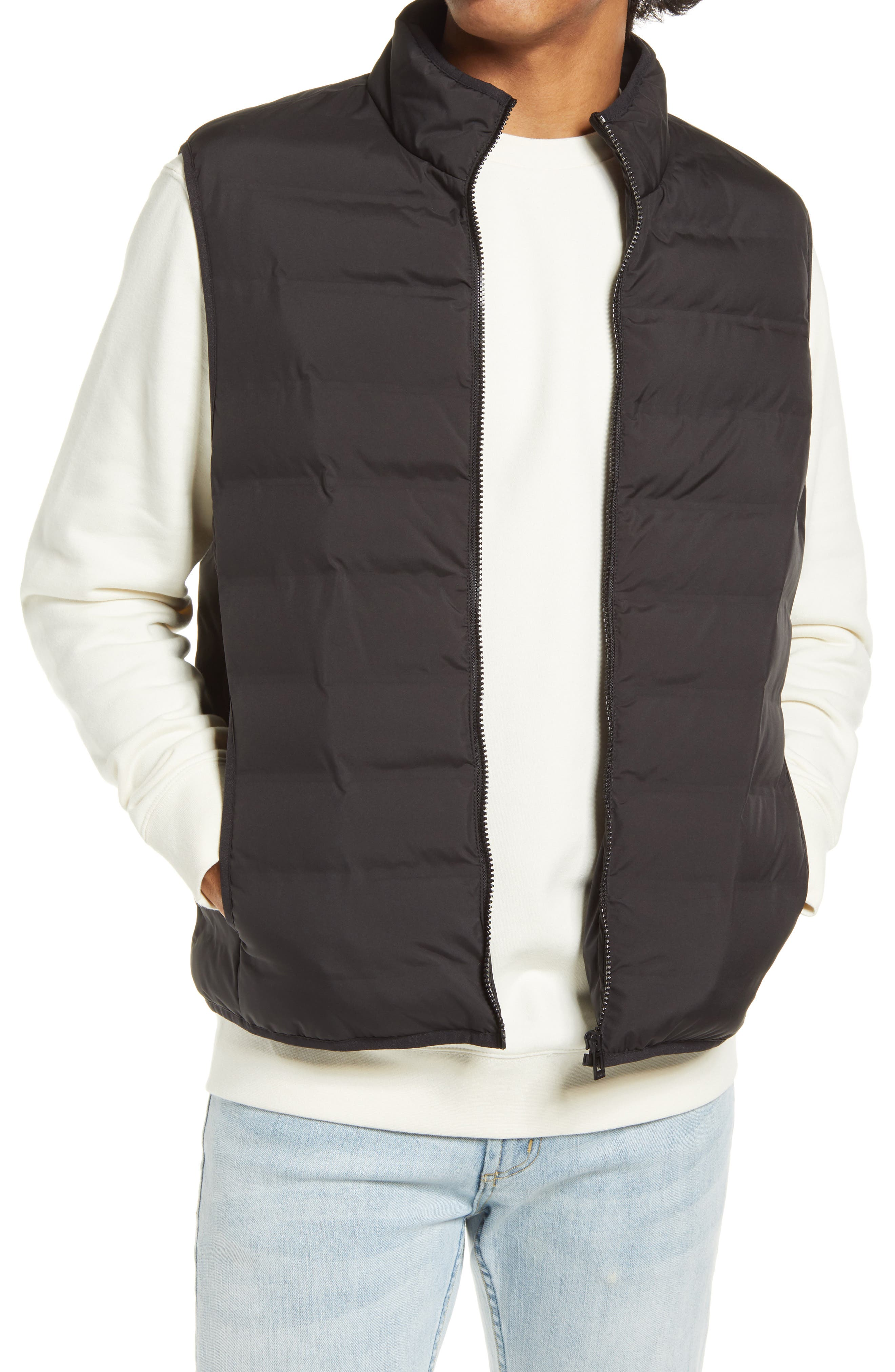 Quilted construction makes this vest a warm and handsome addition to your layered look. Style Name: Topman Alien Liner Vest. Style Number: 6110565 1. Available in stores.