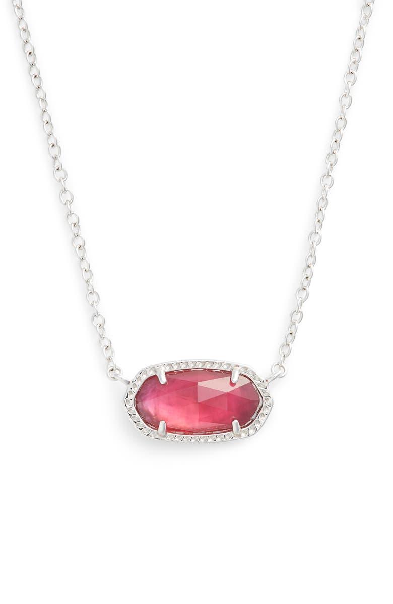 KENDRA SCOTT Elisa Birthstone Pendant Necklace, Main, color, OCTOBER/BERRY ILLUSION/SILVER