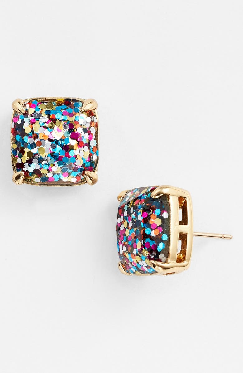 KATE SPADE NEW YORK glitter stud earrings, Main, color, MULTI GLITTER