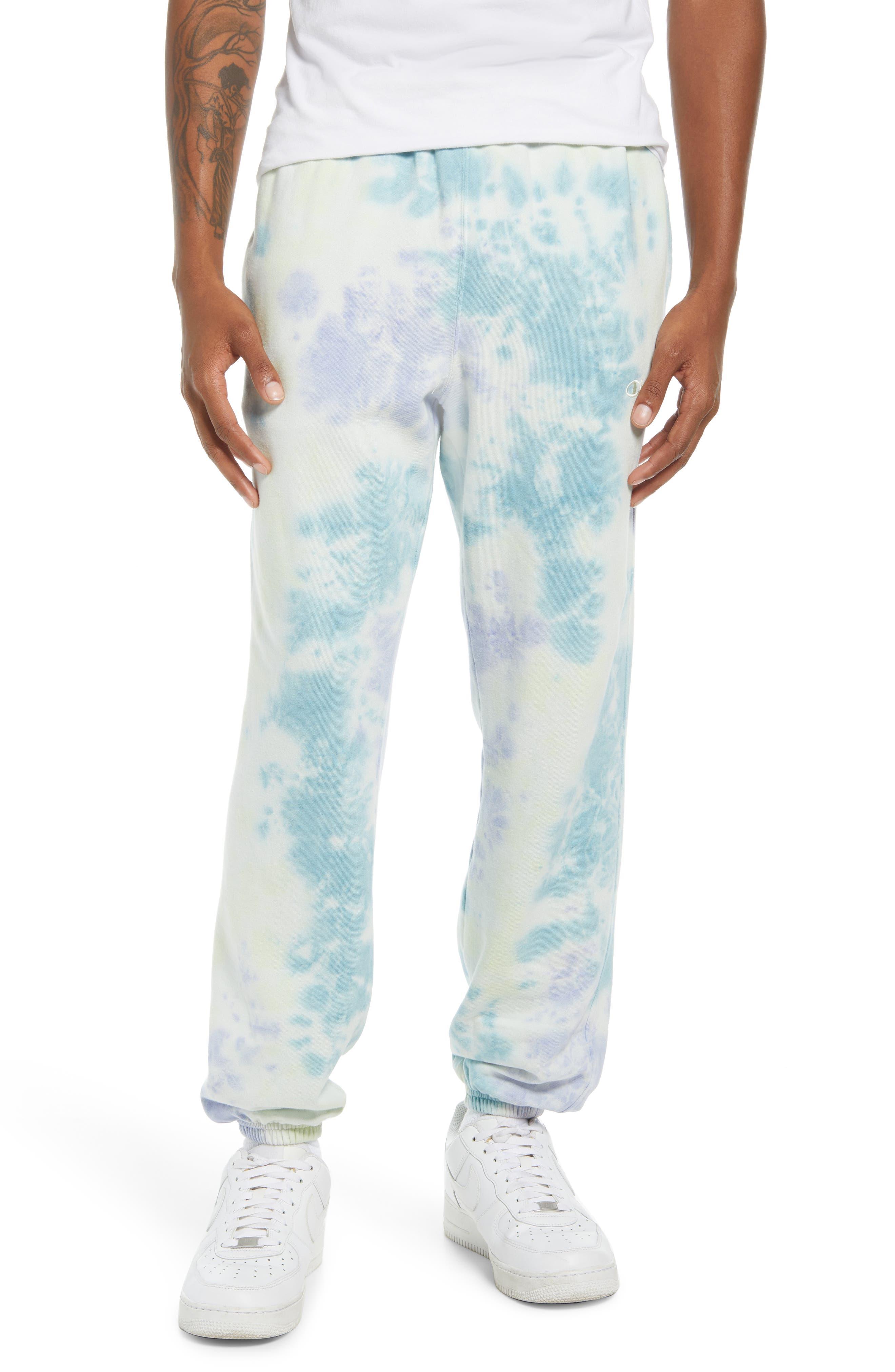 Men's Champion Sun Wash Tie Dye Fleece Sweatpants