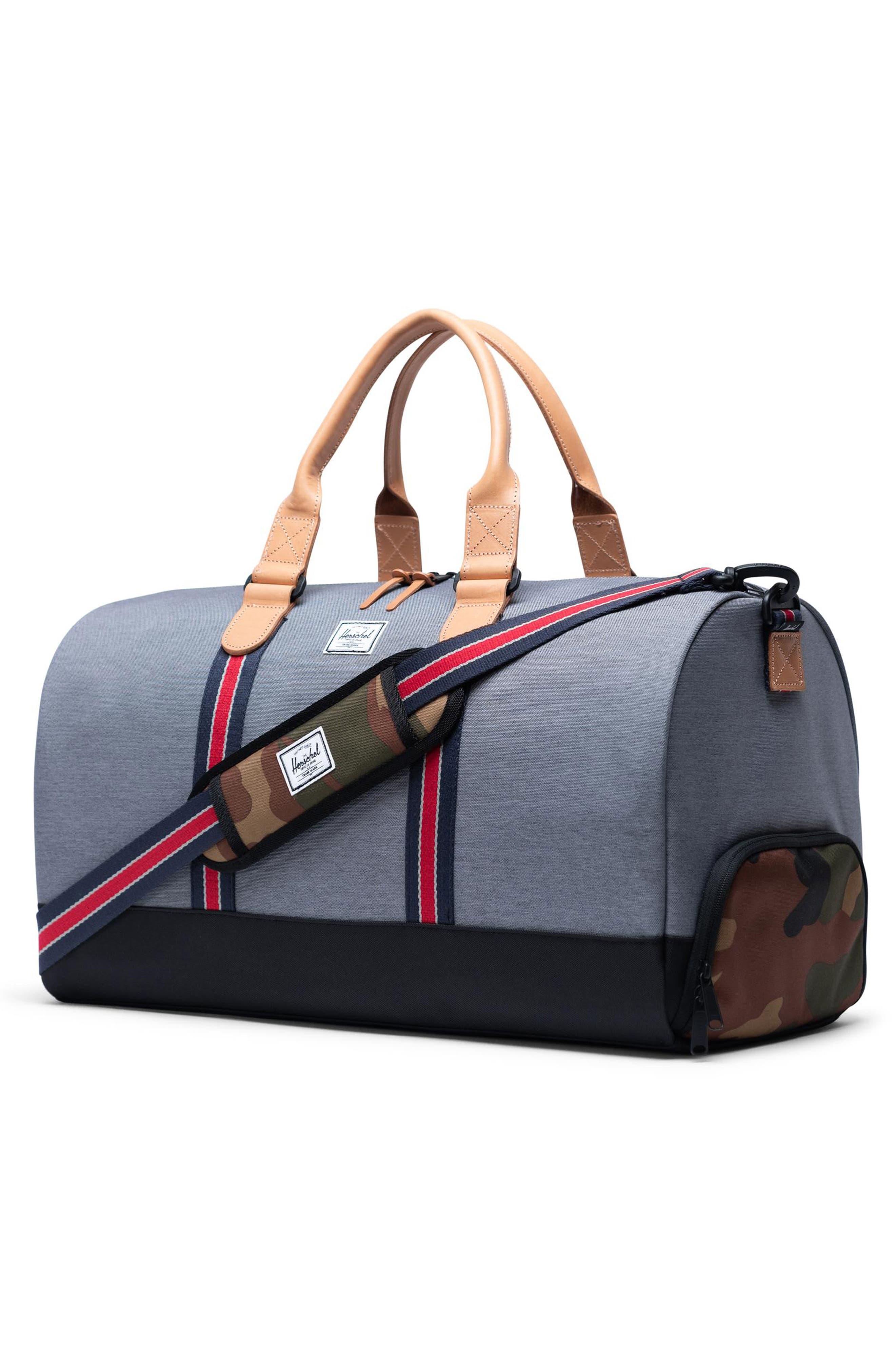 ,                             Novel Duffle Bag,                             Alternate thumbnail 4, color,                             BLACK CAMO OFFSET