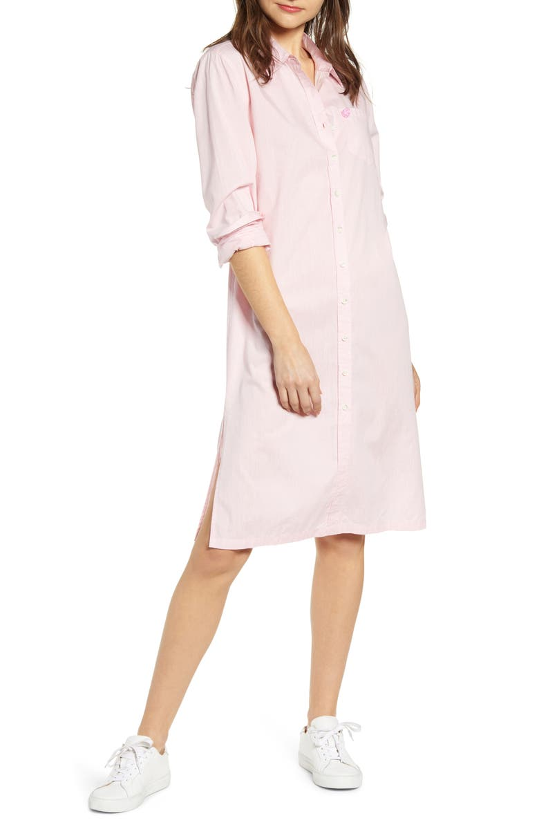 ALEX MILL Fine Shore Midi Shirtdress, Main, color, 650