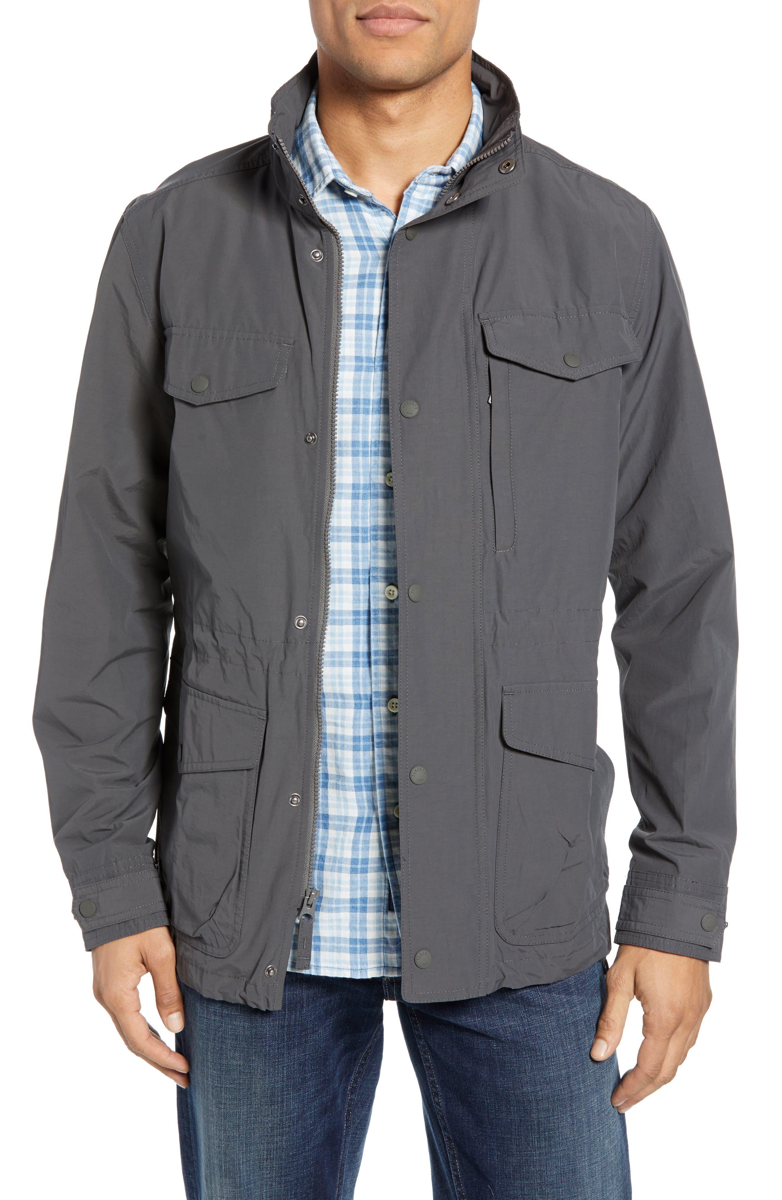 Faherty 60/40 Water Resistant Regular Fit Jacket, Grey