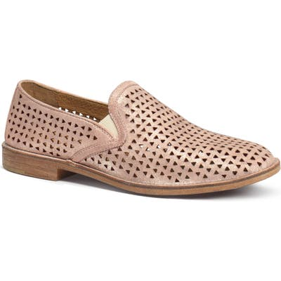 Trask Ali Perforated Loafer- Pink