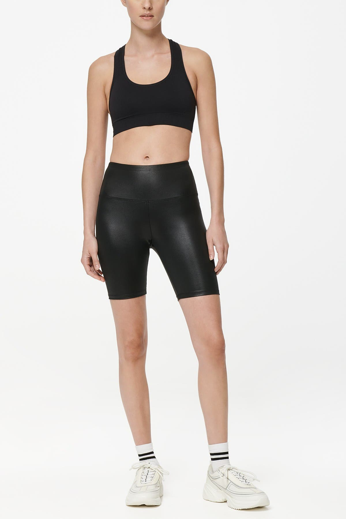 Image of MARC NEW YORK PERFORMANCE High-Waisted Liquid Biker Shorts
