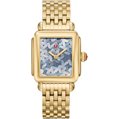 Michele Deco Mosaic Square Watch Head, 3m X 35Mm
