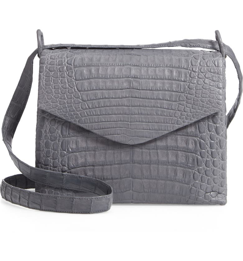 NANCY GONZALEZ Medium Astor Crossbody Genuine Crocodile Bag, Main, color, 032