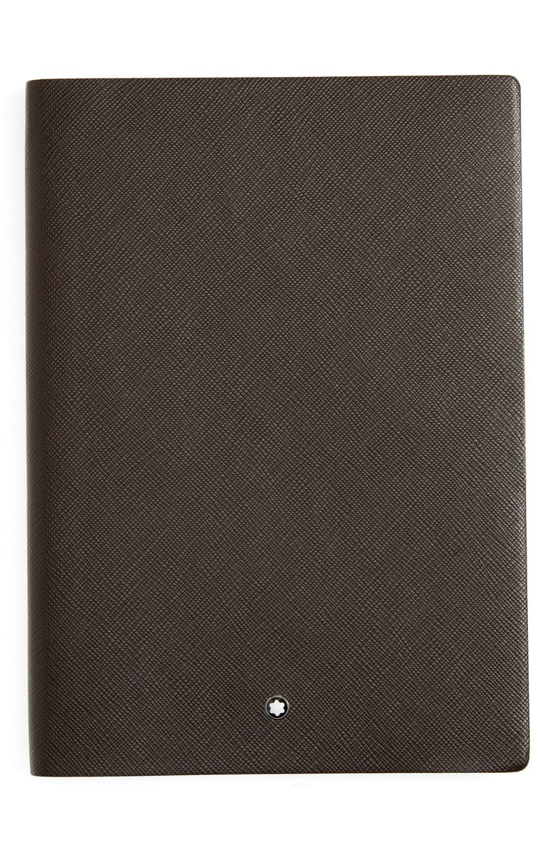MONTBLANC Leather Lined Notebook, Main, color, BROWN