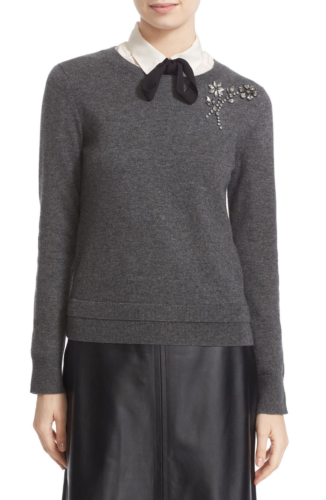 ,                             embellished sweater,                             Main thumbnail 6, color,                             031
