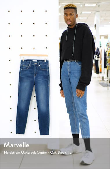 Good Waist High Waist Raw Hem Ankle Skinny Jeans, sales video thumbnail