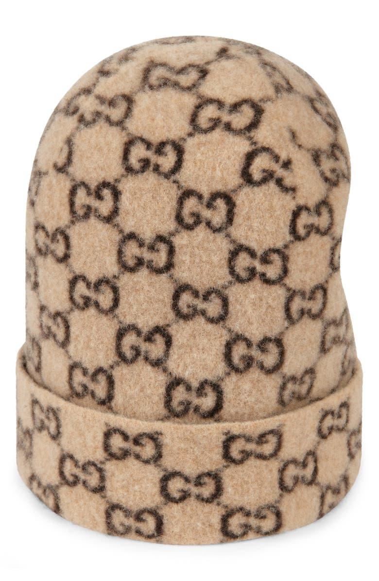 GUCCI GG Wool Hat, Main, color, BEIGE