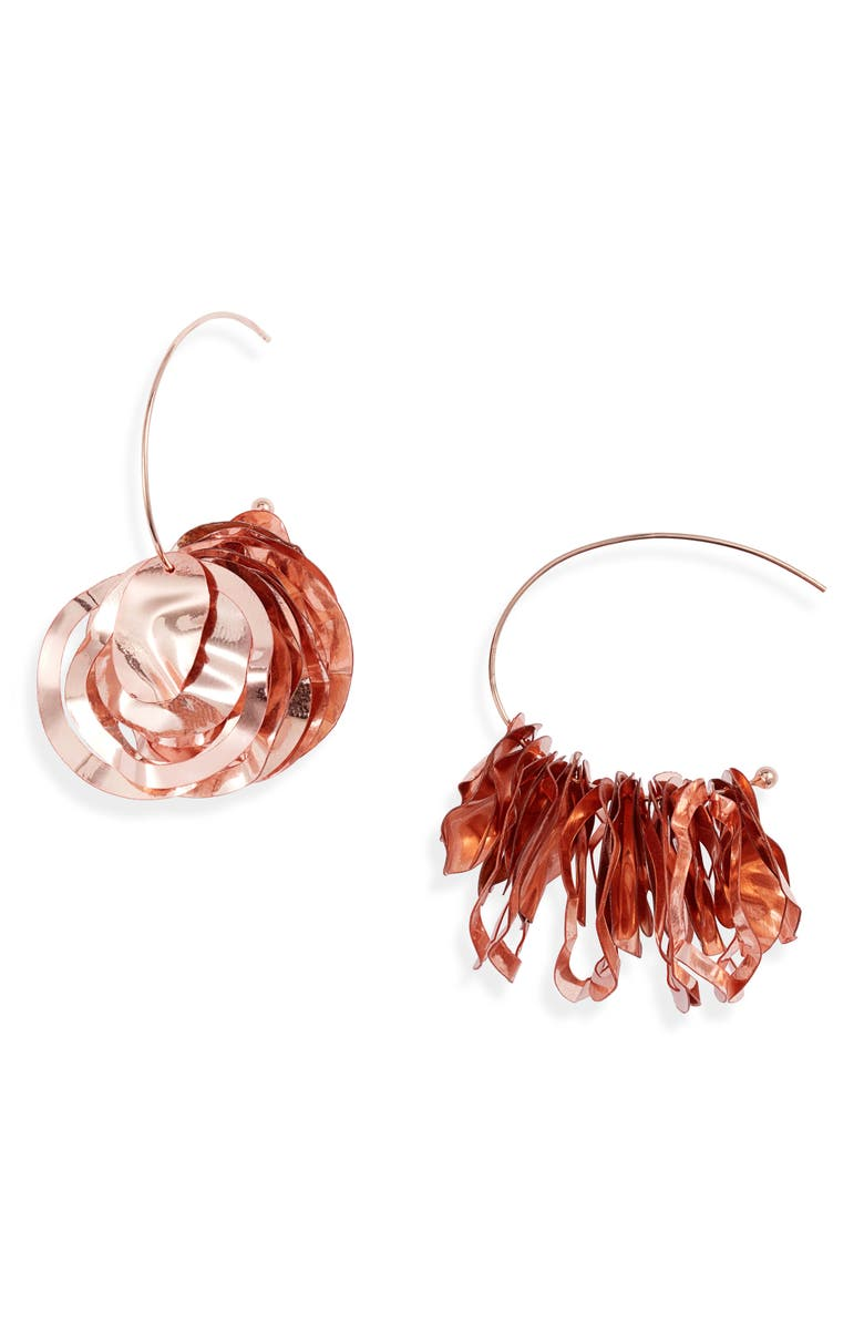 MIGNONNE GAVIGAN Mini Lola Hoop Earrings, Main, color, ROSEGOLD/ ROSEGOLD