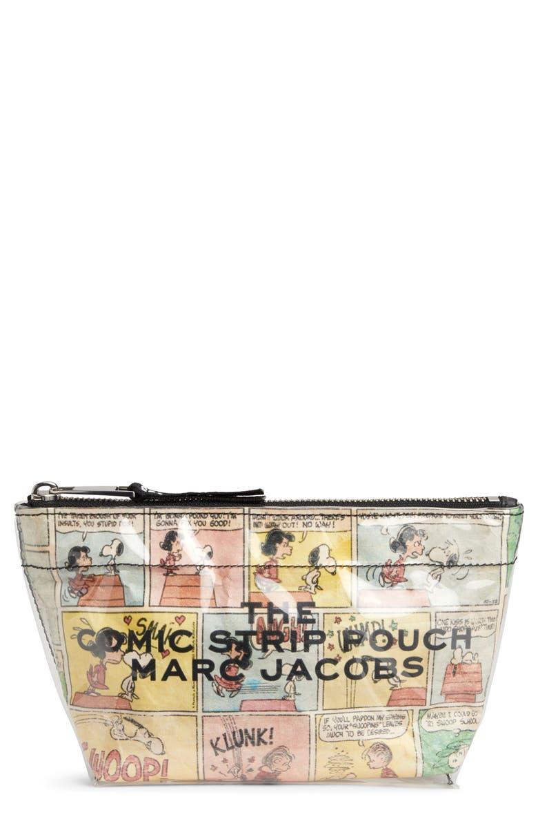 MARC JACOBS x Peanuts<sup>®</sup> Large Comic Strip Cosmetics Case, Main, color, 100