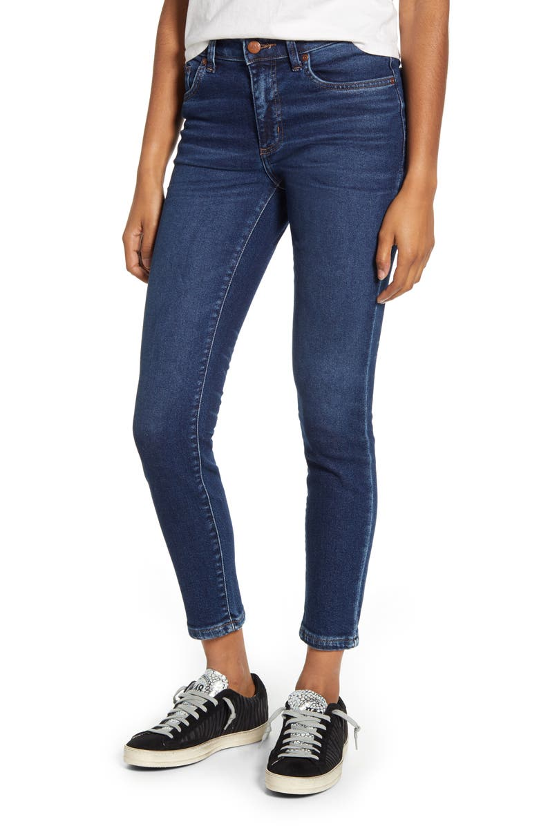 LEE Ankle Skinny Jeans, Main, color, KAW BLUE