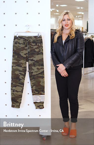 Camo Stripe Crop Sweatpants, sales video thumbnail